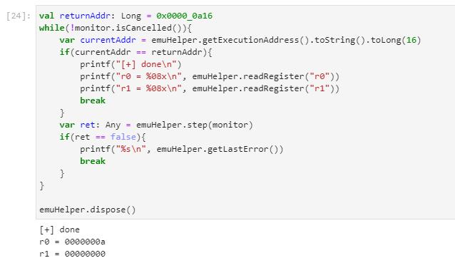 Emulating the code