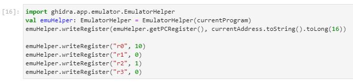 Setting up initial emulator state